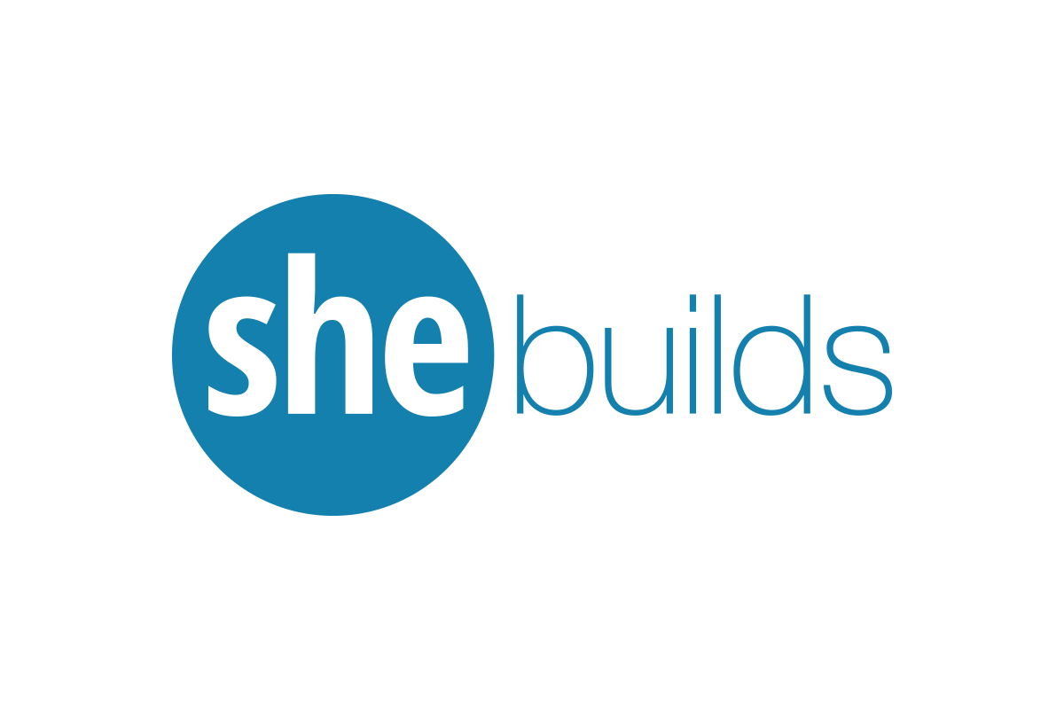 She builds logo