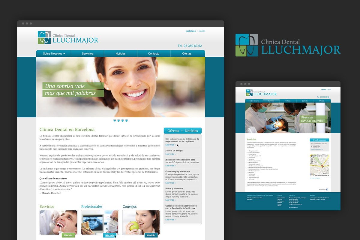 Website for Lluchmajor, a dentist